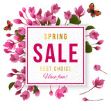 Spring sale banner - 190649056