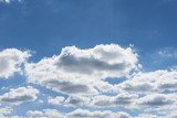 Blue sky with clouds background. - 190653624