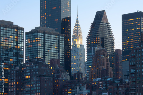 Skyline of midtown Manhattan in New York City