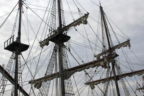 Keuken foto achterwand Schip photo of old ship