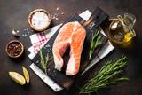 Fresh salmon fish steak - 190678633