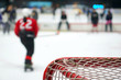 Blurred Training of young hockey players