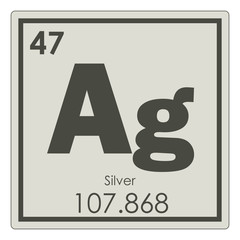 Silver chemical element