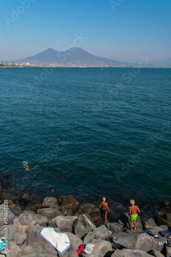 Foto op Canvas Groen blauw The Vesuvius