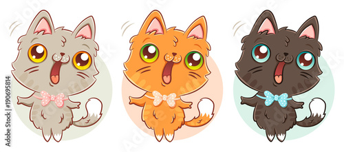 cat in kawaii style. - 190695814
