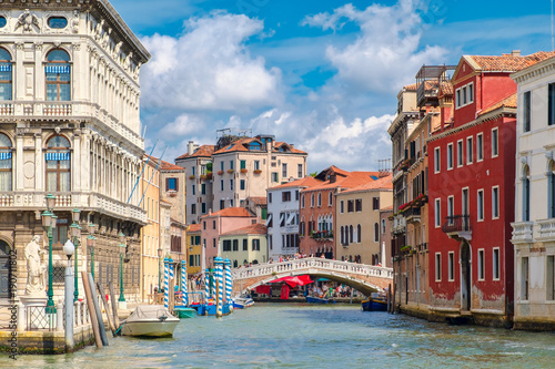 Deurstickers Venetie Canals and colorful old palaces in Venice