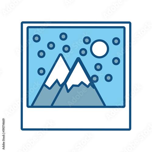 Foto op Plexiglas Wit landscape picture icon