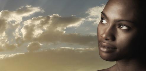 Beutiful Afro American Woman
