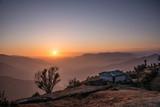 Sun set view from a hilltop - 190721600