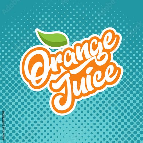 Orange juice calligraphy emblem
