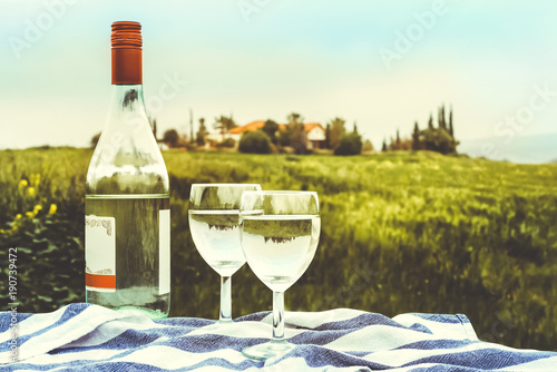 Foto op Canvas Cyprus Wine bottle