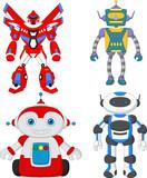 Cartoon cute robot collection set - 190749847