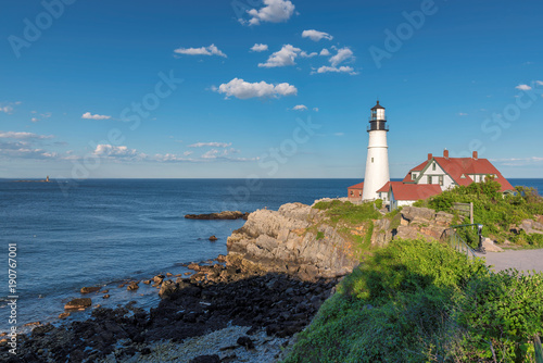 Aluminium Vuurtoren Portland Head Lighthouse in Cape Elizabeth, Maine, USA. One Of The Most Iconic And Beautiful Lighthouses.