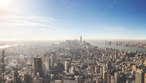 Foto op Plexiglas New York skyline city