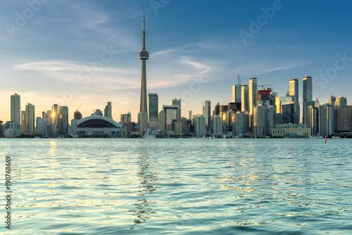 Fotobehang Canada Beautiful Toronto skyline - Toronto, Ontario, Canada.