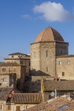 Aerial view of the Baptistery of Volterra, Pisa, Tuscany, Italy - 190770047