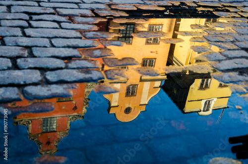 Foto op Canvas Stockholm Stortorget Spiegelung I