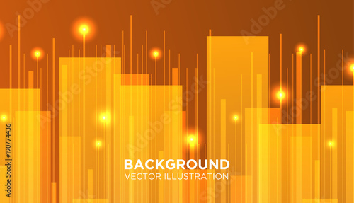 Minimal Vector covers design. Future Poster template. line geometric with light - 190774436
