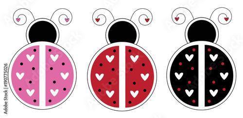 Valentines Day Ladybugs