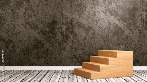 Wooden Staircase in the Room