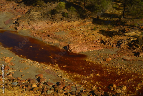 Fotobehang Rio de Janeiro Rio con agua de color rojo