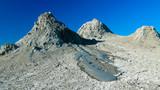 Panorama view to mud volcanoes, Qobustan, Azerbaijan - 190787281