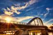 The Main Street Bridge in Columbus, Ohio is a premier landmark in this capital city.