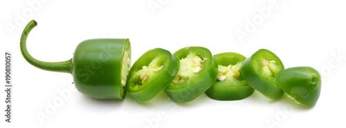 Fotobehang Verse groenten jalapeno slice peppers