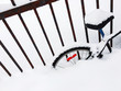 Bicycle in a snowdrift