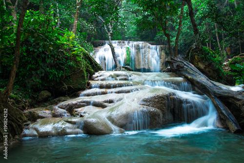 Erawan waterfall in Thailand National Park