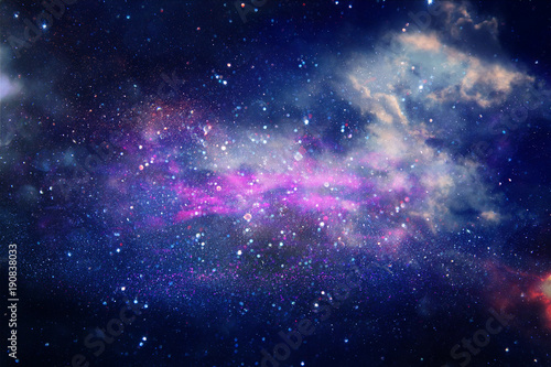 Foto op Canvas Heelal Galaxy and nebula . Starry outer space background texture.