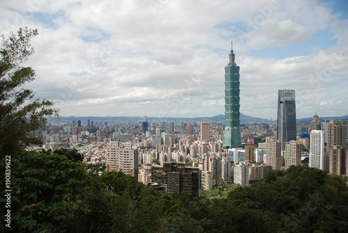 View from Elephant Mountain to Taipei, the capital city of Taiwan Poster