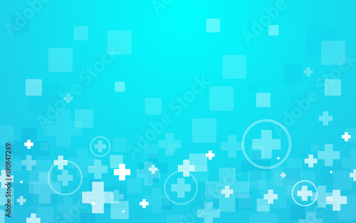 Abstract geometric hexagons shape medicine and science concept background