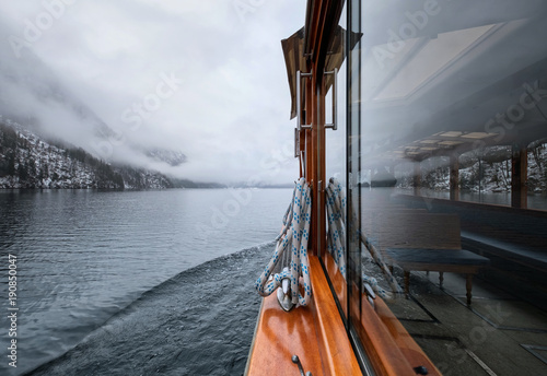 Walk on the boat on the lake. Travel and adventure in the Germany