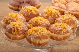 Traditional Polish donuts with filling and orange - 190854428