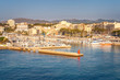 Harbor in Porto Cristo city on the Spanish island of Mallorca, Europe.
