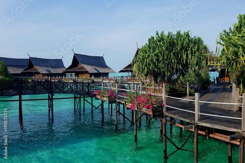 Fotobehang Tropical strand Kapalai Resort - Sabah - Malaysia