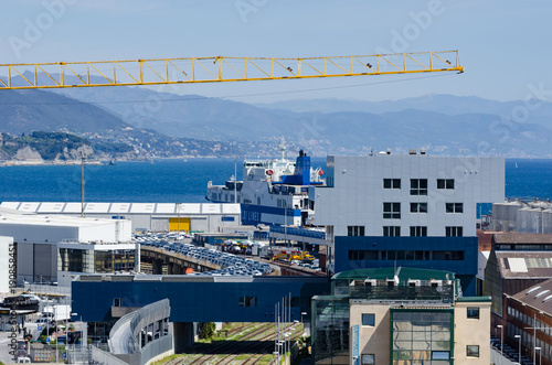 Poster Liguria Ship in the port of Savona