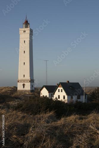 In de dag Noordzee Leutturm Blaavand Dänemark