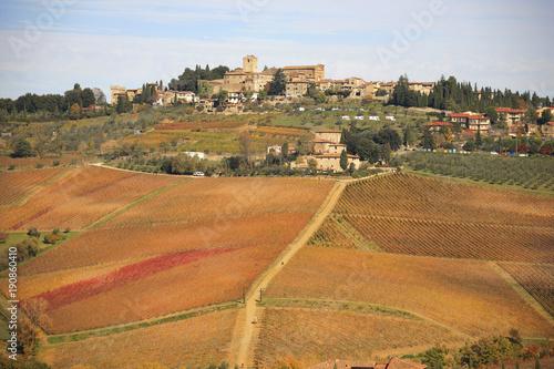 Staande foto Toscane Toscana,Firenze, il paese di Panzano in Chianti