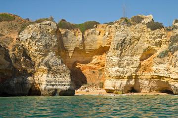 Algarve rock .Coast in Portugal