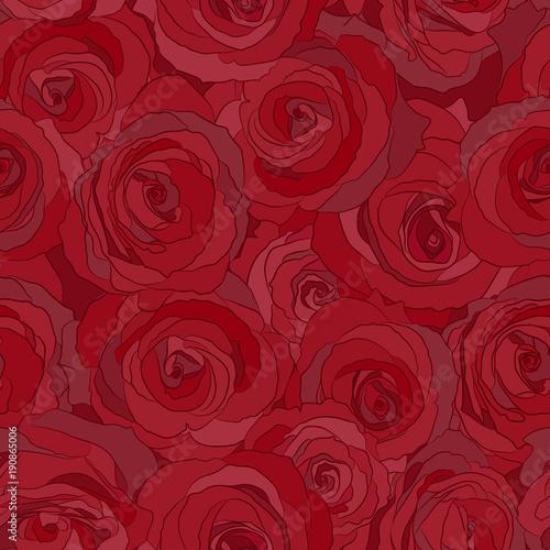 czerwone róże bezszwowe wektor wzór