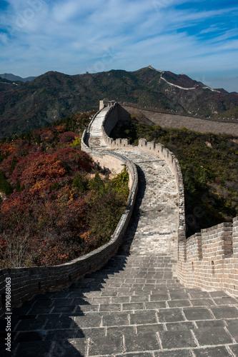 Foto Murales Badaling Great Wall in autumn, Beijing