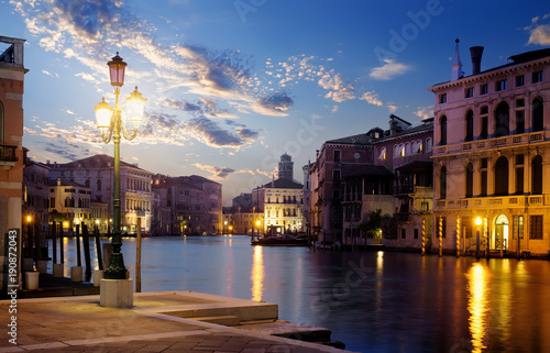 Foto op Canvas Venetie Sunset over grand canal