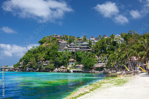 Papiers peints Tropical plage Beautiful ladscape of Boracay island, Philippines