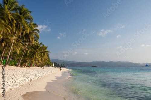 Aluminium Tropical strand Beautiful ladscape of Boracay island, Philippines