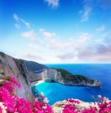 Piękny krajobraz wyspy Zakinthos