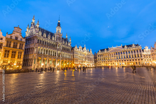 Fotobehang Brussel Grand Place in Brussels Belgium