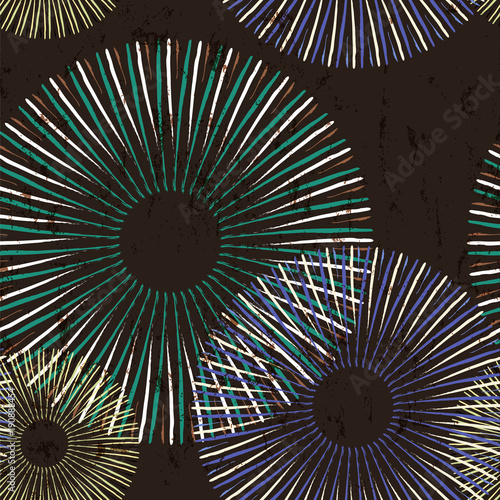 Fotobehang Abstract met Penseelstreken seamless pattern background, with circles, strokes and splashes, grungy