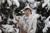 Kazakh in national clothes - 190889020